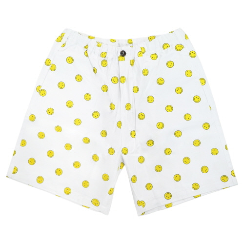 [FRAY x SMILEY] SMILE  DOT SHORTS PANTS - WHITE