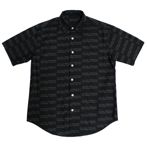 Basic Logo Pettern Shirts - Black