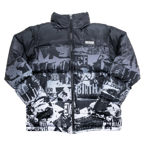 TORN PICTURES DUCK DOWN JACKET - BLACK
