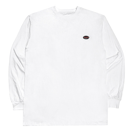 [18FW] OVAL LONG SLEEVE T SHIRTS - WHITE