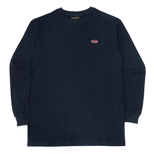 [18FW] OVAL LONG SLEEVE T SHIRTS - NAVY