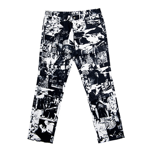 TORN PICTURES ALL PRINT PANTS - O/C