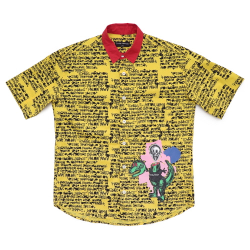 [18SS] NOT A HUMANBEING HAWAIIAN SHIRTS - YELLOW