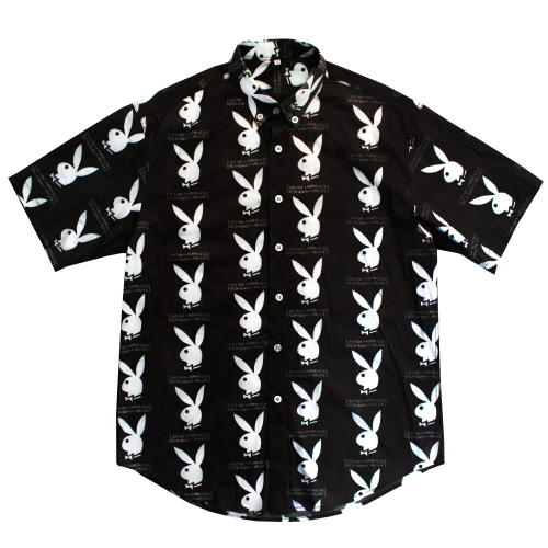 [HBXPB] Rabbit Head x IMXHB Logo Pattern shirt - Black