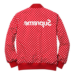 Comme Des Garcons Shirt®/Supreme Reversibie Varsity Baseball Jacket(Red)